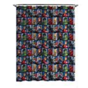 Marvel Avengers Team Shower Curtain & Hooks