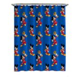 Disney's Jr. Mickey Roadster Shower Curtain & Hooks
