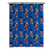 Disney's Jr. Mickey Roadster Shower Curtain & Hooks
