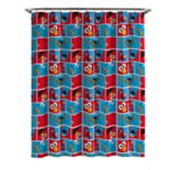 Elmo Cookie Squares Shower Curtain & Hooks