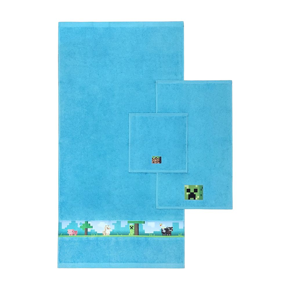 Mojang Minecraft 3-piece Bath Towel Set