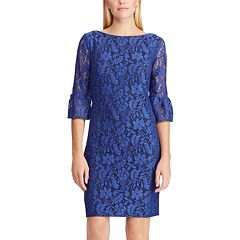 Women's Chaps Lace Bell-Sleeve Sheath Dress