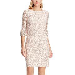 Women's Chaps Lace Bell-Sleeve Sheath Dress