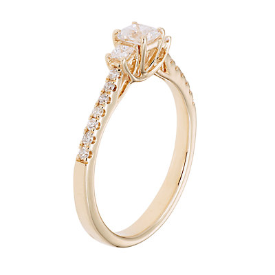 14k Gold 1/2 Carat T.W. IGL Certified Diamond 3-Stone Ring