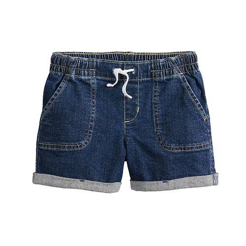 Girls 4-12 Jumping Beans® Rolled-Cuff Denim Shorts