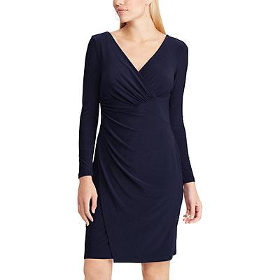 Women's Chaps Shirred Faux-Wrap Dress