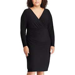 Plus Size Chaps Faux-Wrap Dress