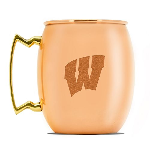 Wisconsin Badgers Copper Moscow Mule Mug