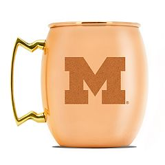 Michigan Wolverines Copper Moscow Mule Mug