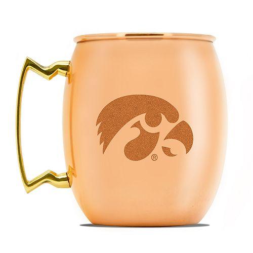 Iowa Hawkeyes Copper Moscow Mule Mug
