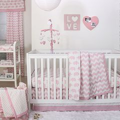 The Peanut Shell Ellie Chevron 6 Piece Crib Bedding Set