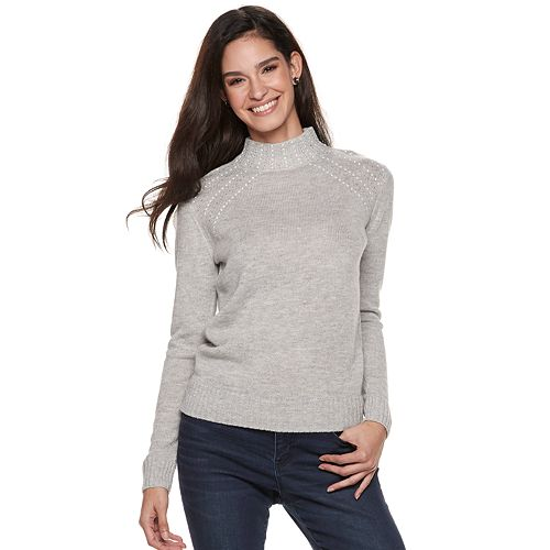 Women's Juicy Couture Embellished Mockneck Sweater