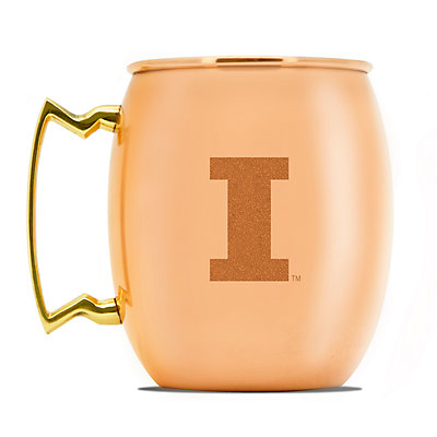 Illinois Fighting Illini Copper Moscow Mule Mug