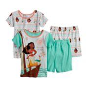 Disney's Moana Girls 4-10 Tops & Shorts Pajama Set