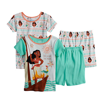 Disney's Moana Girls 4-10 Tops & Shorts Pajama Set