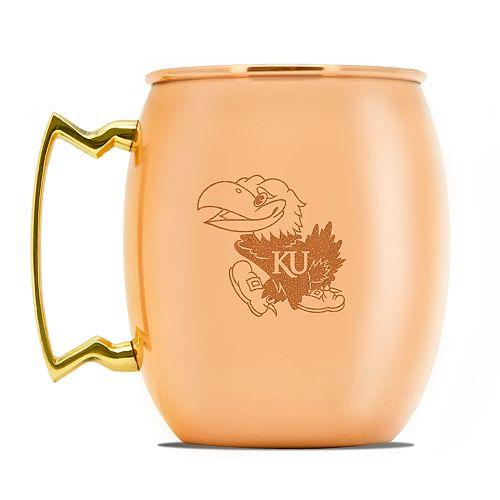 Kansas Jayhawks Copper Moscow Mule Mug
