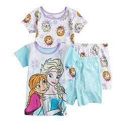 ef7a0a45dd54c Disney's Frozen Anna & Elsa Girls 4-8 Tops & Shorts Pajama Set