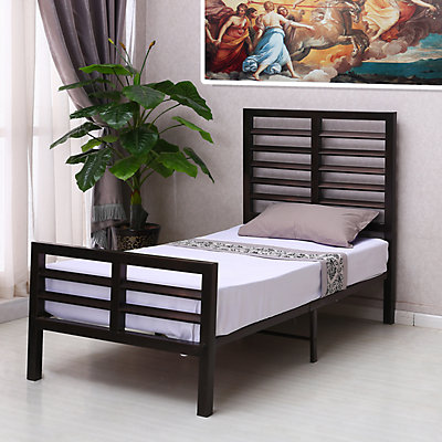 Home Source Nikki Brown Metal Twin Bed