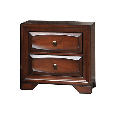 Home Source Sandra Oak 2 Drawer Nightstand