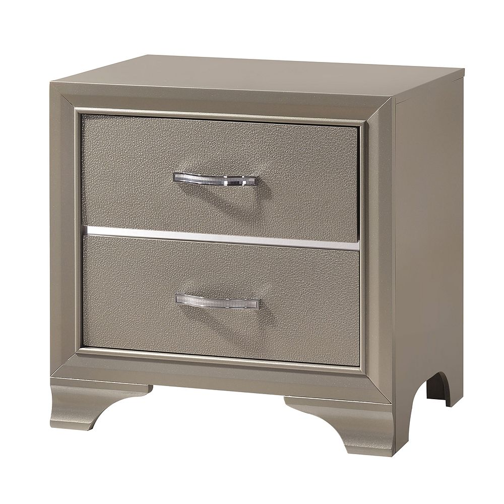 Home Source Coco 2 Drawer Nightstand