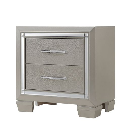 Home Source Bryant Champagne Nighstand