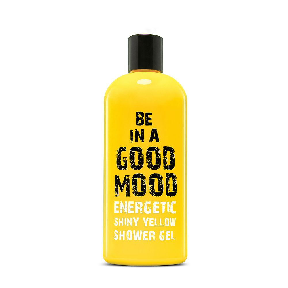 BE IN A GOOD MOOD Energetic Shiny Yellow Shower Gel