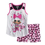 Girls 6-10 L.O.L. Surprise! Top & Plush Shorts Pajama Set