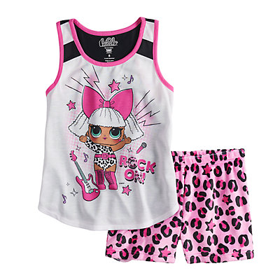 Girls 6-10 L.O.L. Surprise! Top & Plush Shorts Pajama Set