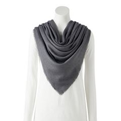 LC Lauren Conrad Solid Soft Touch Square Scarf
