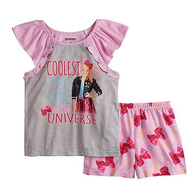 Girls 6-12 JoJo Siwa Flutter Sleeve Top & Shorts Pajama Set