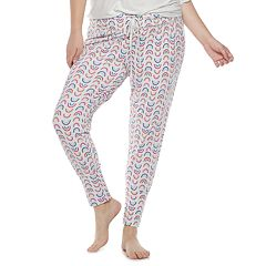 Juniors' SO® Printed Banded Bottom Sleep Pants