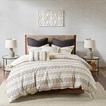 INK + IVY 3-piece Rhea Cotton Jacquard Duvet Cover Set