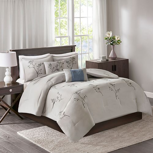 510 Design Annika 5-piece Embroidered Floral Comforter Set