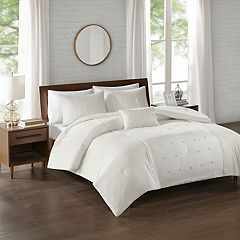 510 Design Nadean 4-piece Dot Embroidered Comforter Set