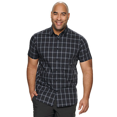 Big & Tall Apt. 9® HEIQ Regular-Fit Patterned Button-Down Shirt