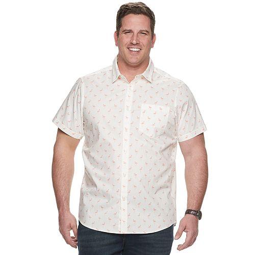 Big & Tall Apt. 9® HEIQ Regular-Fit Patterned Button-Down Shirt