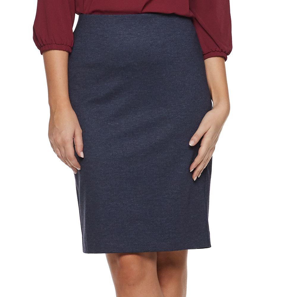 Women's ELLE™ Pull-On Denim Pencil Skirt
