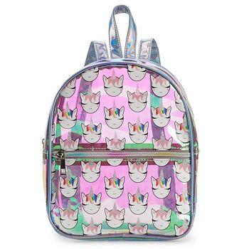 OMG Accessories Iridescent Rainbow Unicorn Mini Backpack