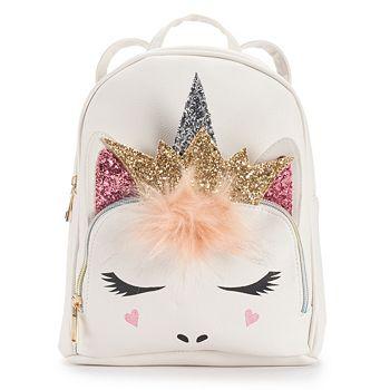 OMG Accessories Glitter Crown Unicorn Mini Backpack