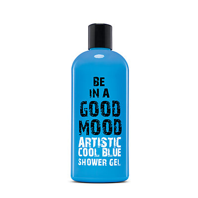 BE IN A GOOD MOOD Artistic Cool Blue Shower Gel