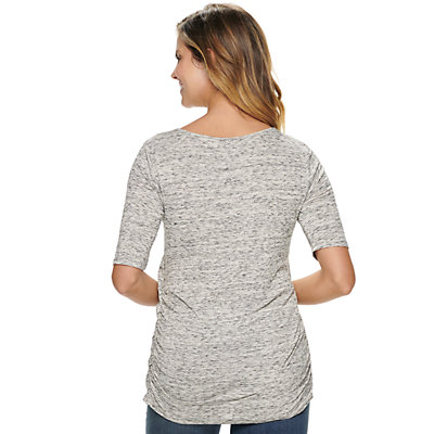Maternity a:glow Elbow Sleeve Nursing Top