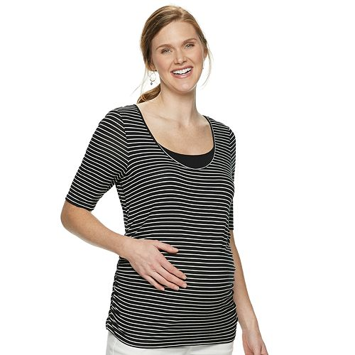 be8c5f5e11594 Maternity a:glow Elbow Sleeve Nursing Top