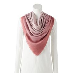 LC Lauren Conrad Printed Soft Touch Square Scarf