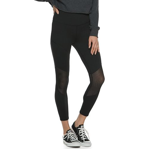 Juniors' SO® Mesh Ankle Leggings
