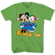 Boys Disney Mickey & Donald Christmas Tee