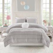 Mi Zone Diana Ruched Seersucker Comforter Set