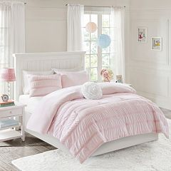 Mi Zone Diana Ruched Seersucker Comforter Set