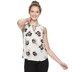 Juniors' Candie's® Keyhole Halter Tank