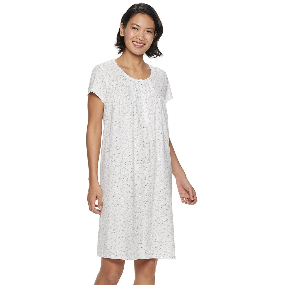 Women's Croft & Barrow® Short Sleeve Nightgown