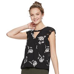 Juniors' Candie's® Cutout Lace Top